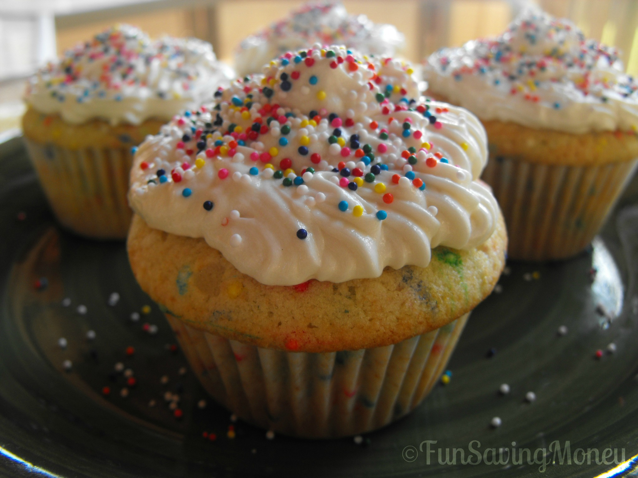 Homemade Funfetti Cupcakes With ButterCream Frosting Recipe