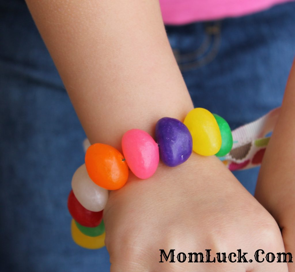 easter crafts for kids-candy jewelry