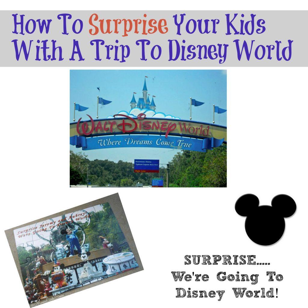 Disney World surprise video with Kids
