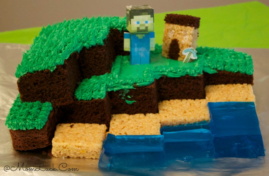 How to Make a Minecraft Cake: Minecraft Birthday Cake Recipe