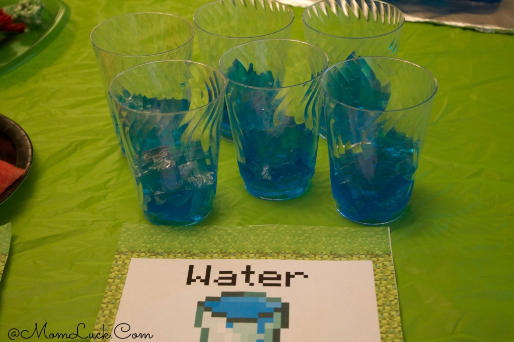 Minecraft Blue Jello Water Recipe