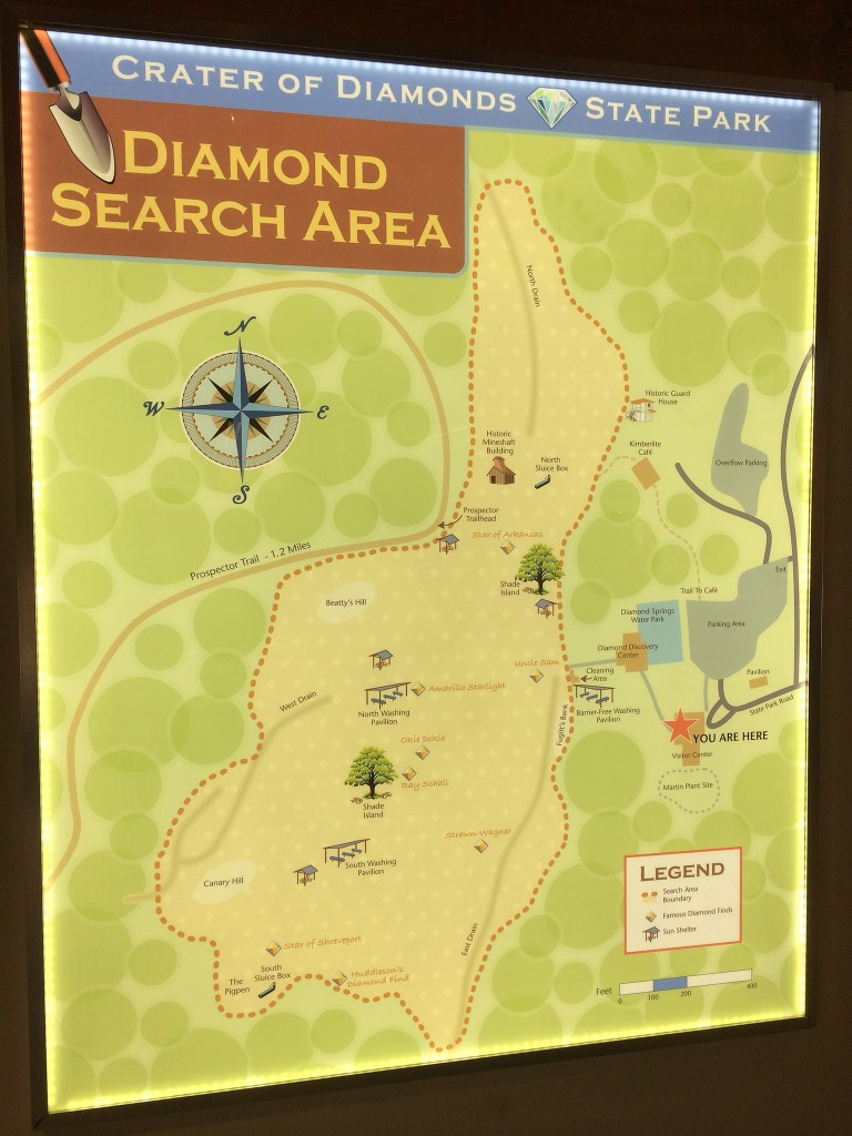 crater of diamonds state park-diamond search map