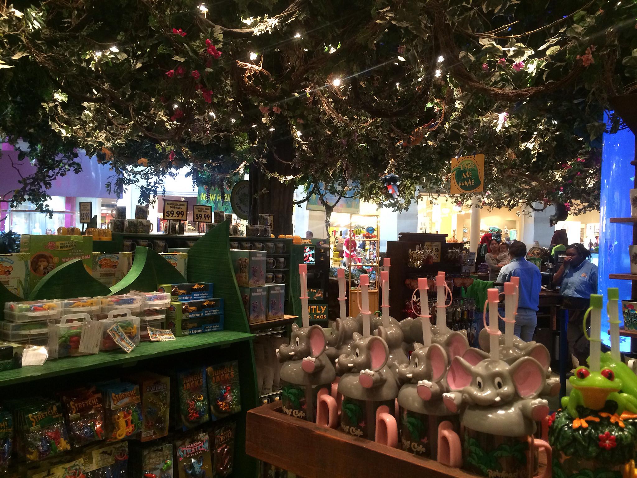 rainforest cafe gift shop