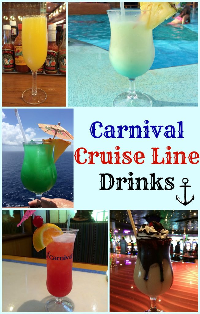 What kind of drinks are on the Carnival Cruise ships