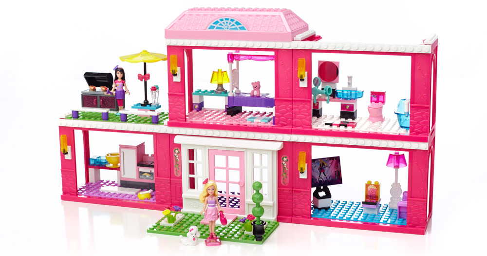 mega bloks barbie mansion