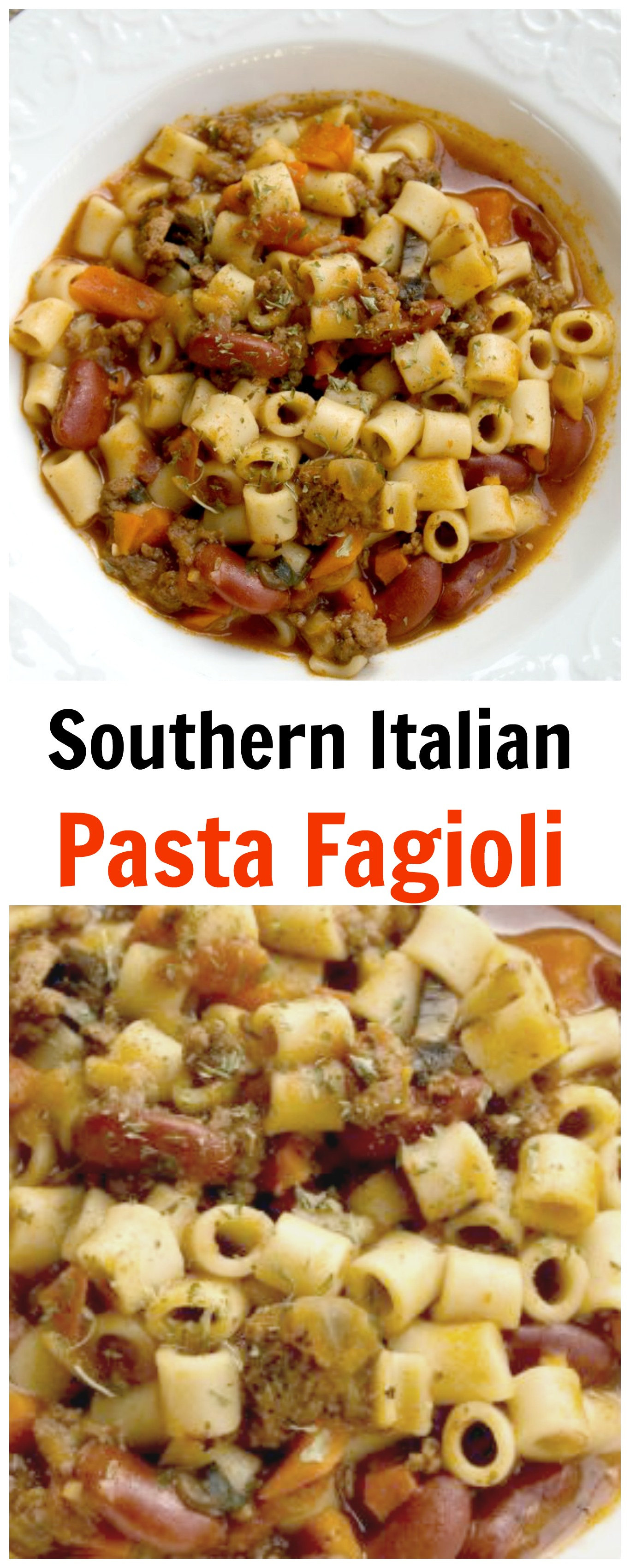 Southern Italian Pasta-Super Easy Italian soup recipe that makes a quick and delicious dinner any night of the week. It's a filling soup that is kid friendly. Pair with a slice of italian bread for the perfect comfort meal.