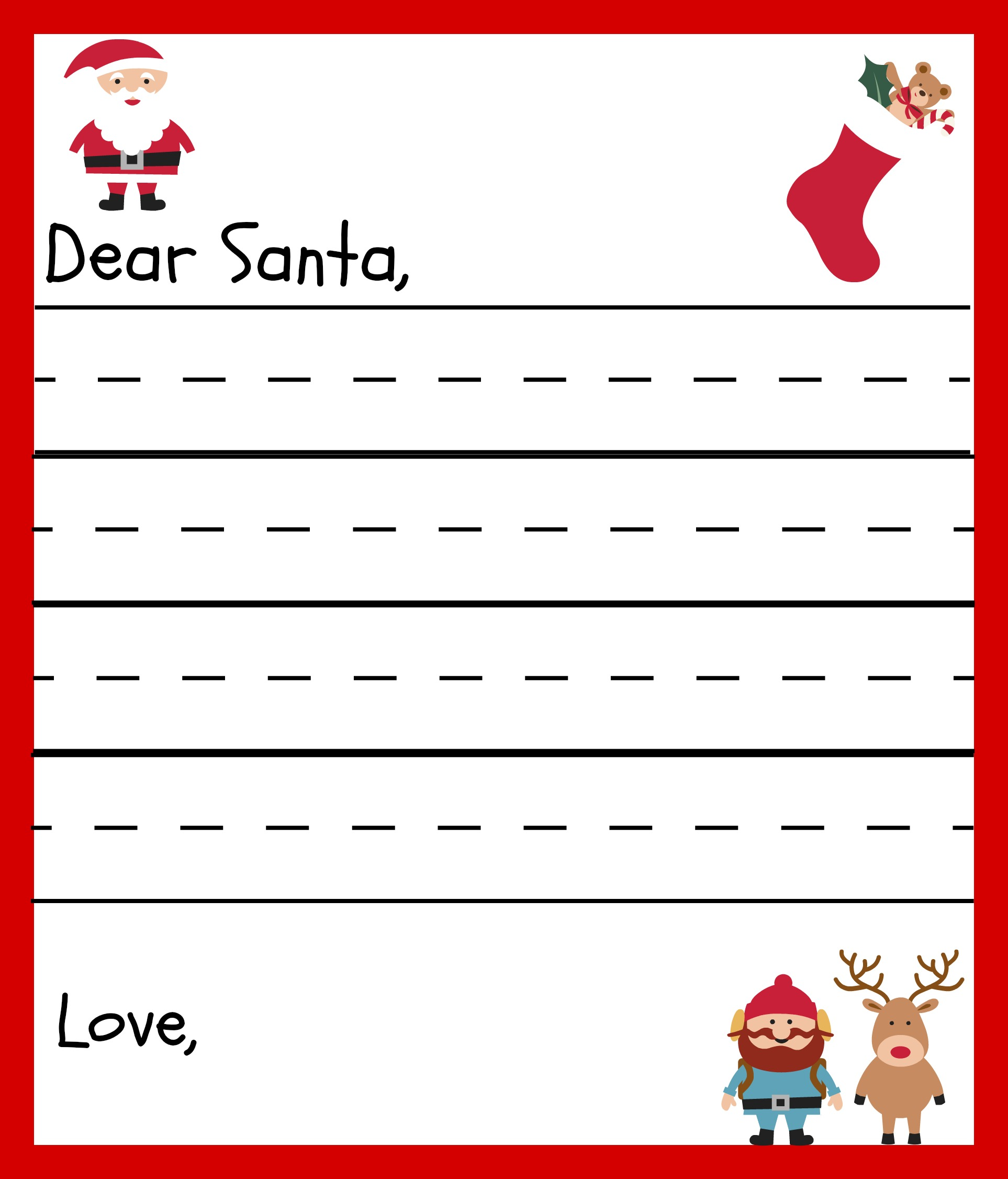 Free Printable Santa Letters for Kids
