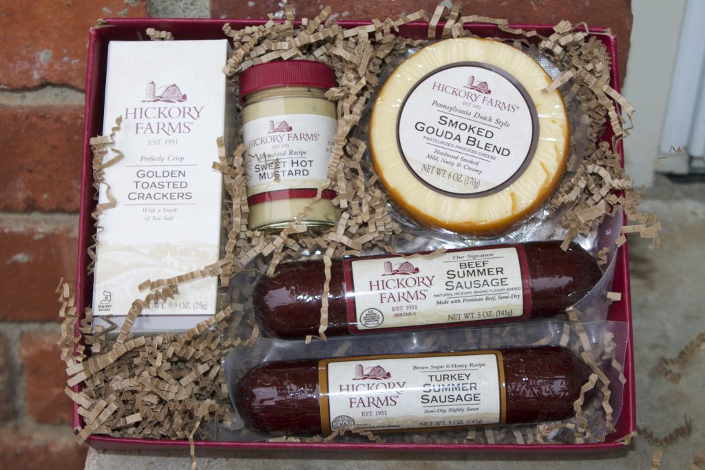 hickory farms gift basket-gift idea