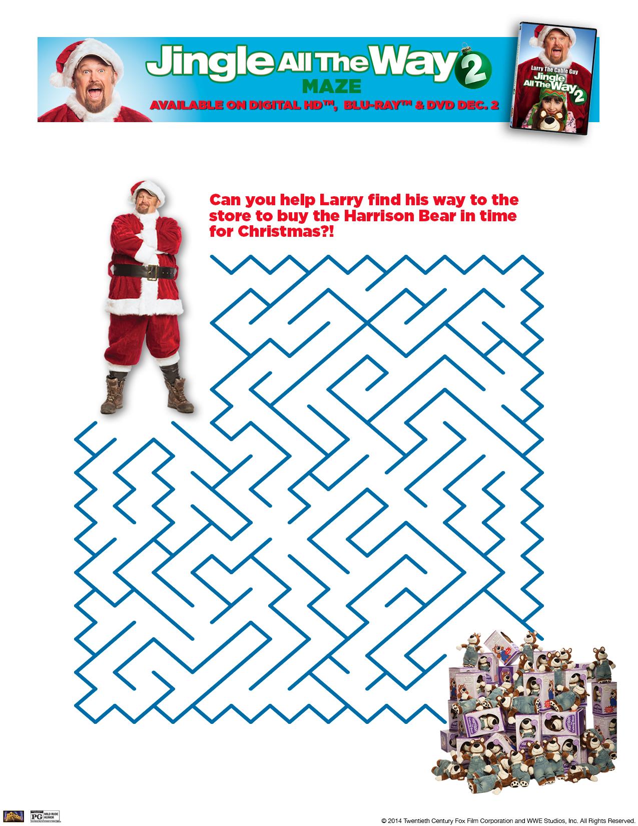 Jingle All The Way 2-Printable Maze