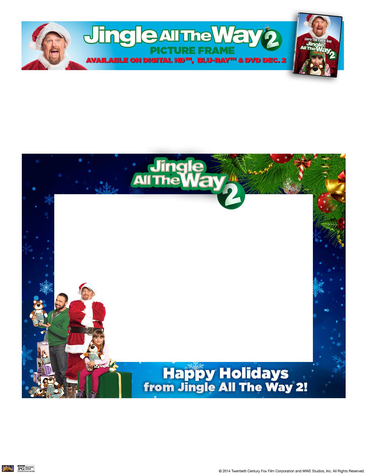 Jingle All The Way 2-Christmas Frame