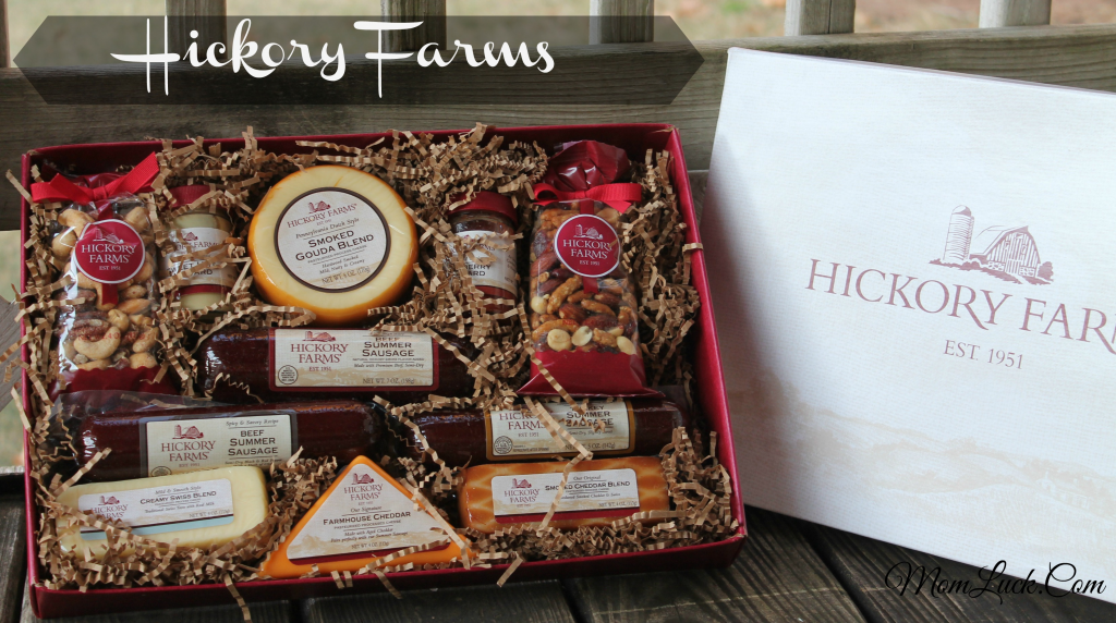 Hickory Farms  gift box-meat and cheese gift basket