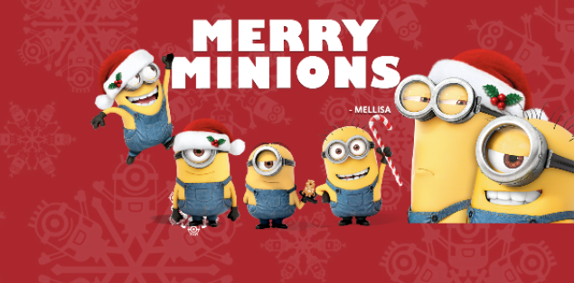 minions holiday card