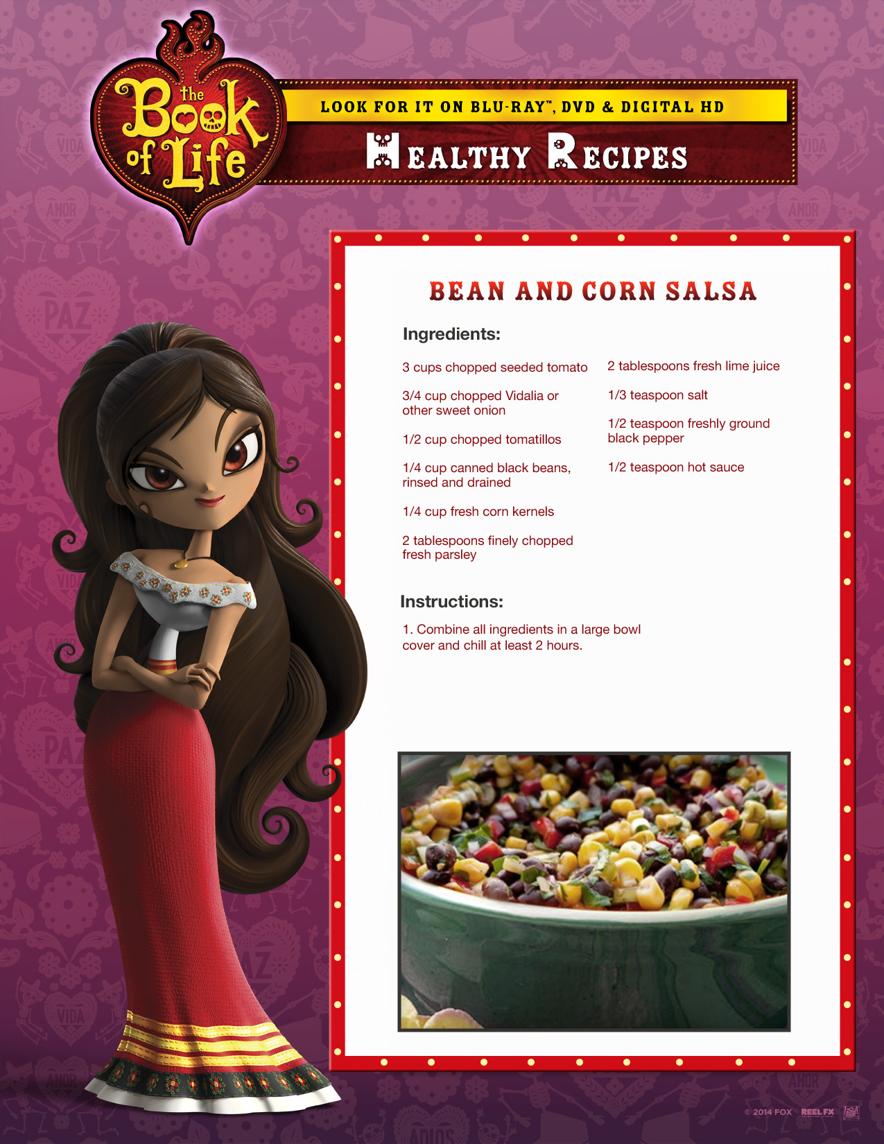 Coloring the book of life - Book Of Life Healthy Mexican Recipes