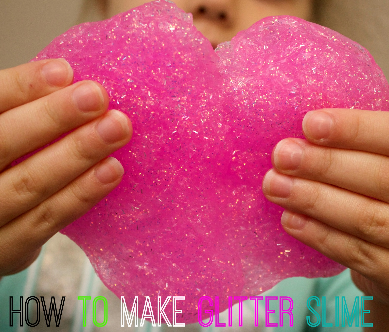 How to make slime-glitter slime with borax