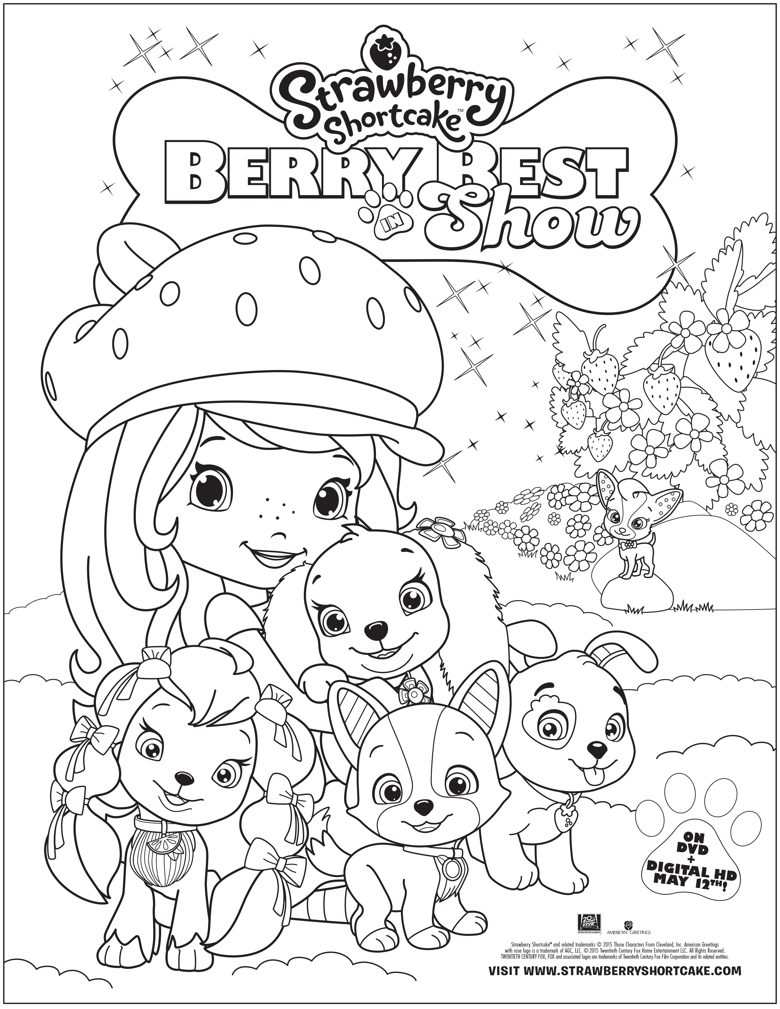 strawberry shortcake coloring pages free - photo#32