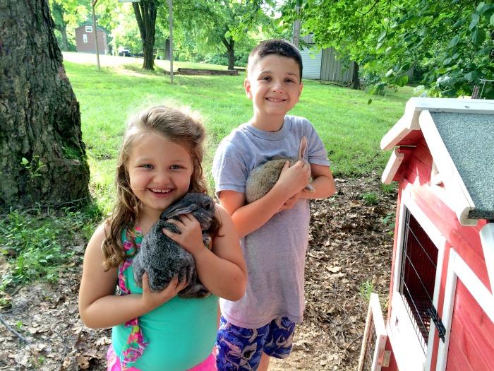 kids at KOA campground