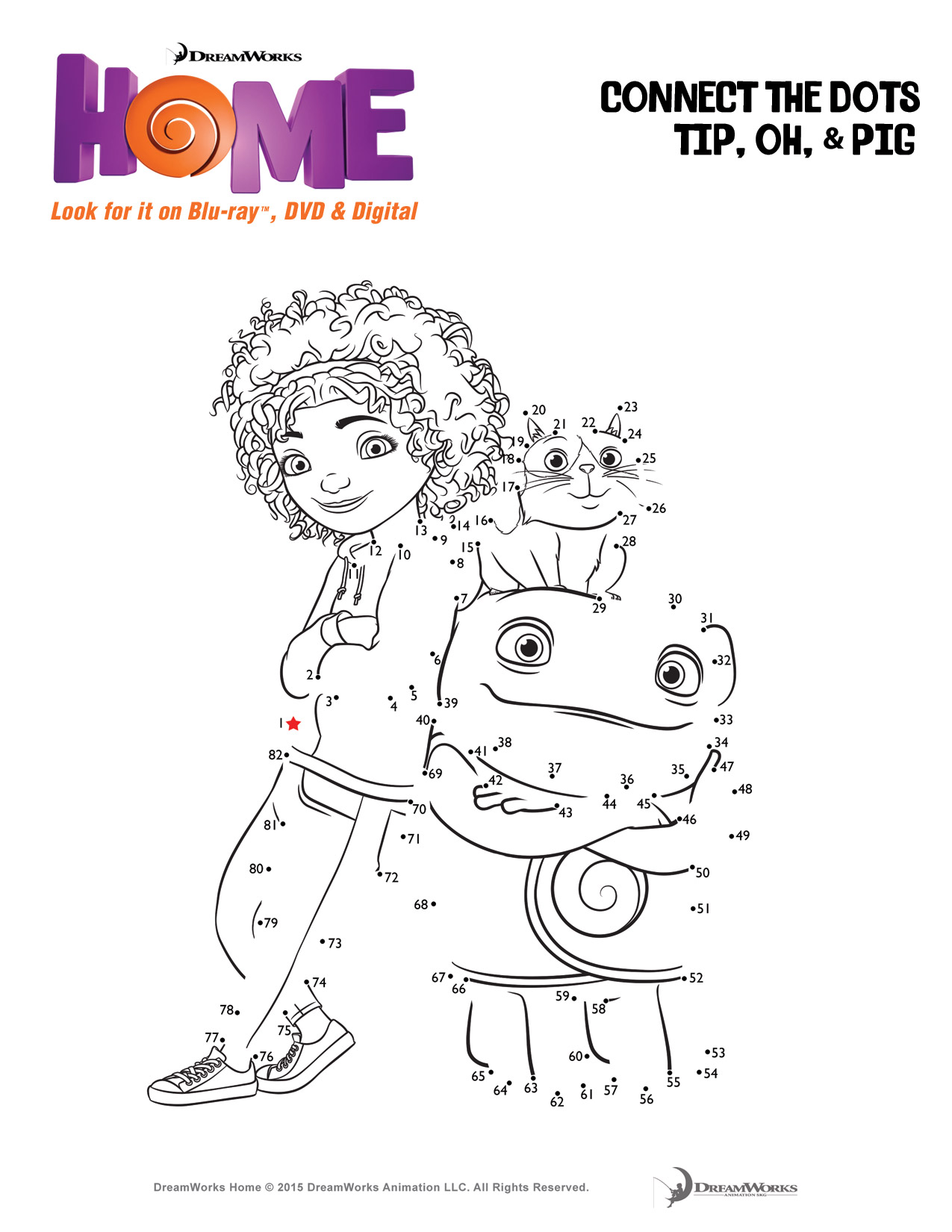 Coloring Pages Home Movie