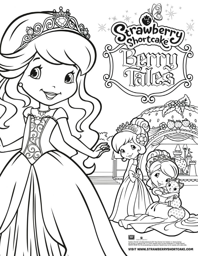 Strawberry shortcake berry tales coloring page for Strawberry shortcake coloring pages to print
