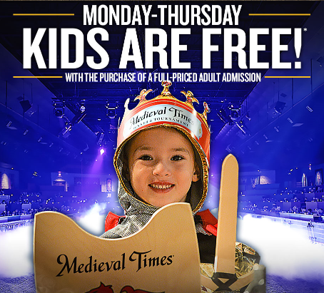 Join the King's Court by signing up for email updates by Medieval Times for special offers, event new and much more! For more, follow Medieval Times on Twitter, Facebook, Instagram, Pinterest and Google+ and participate in various contests to win exclusive offers on ticket booking.