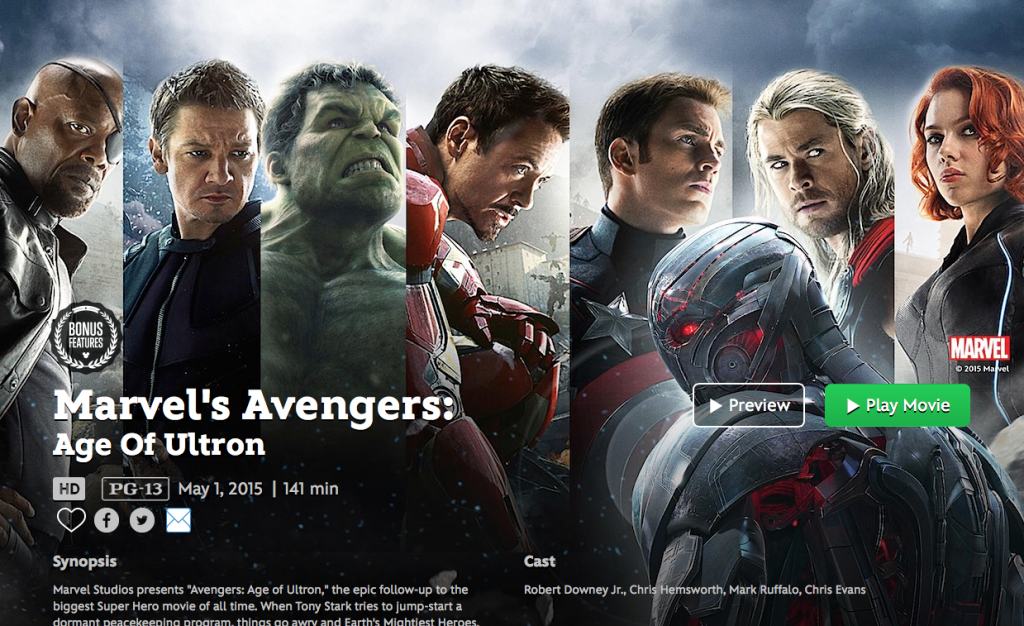 avengers on Disney Movies Anywhere