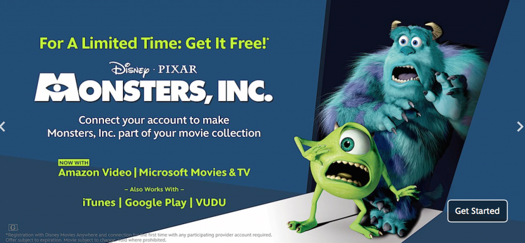 free monsters inc movie