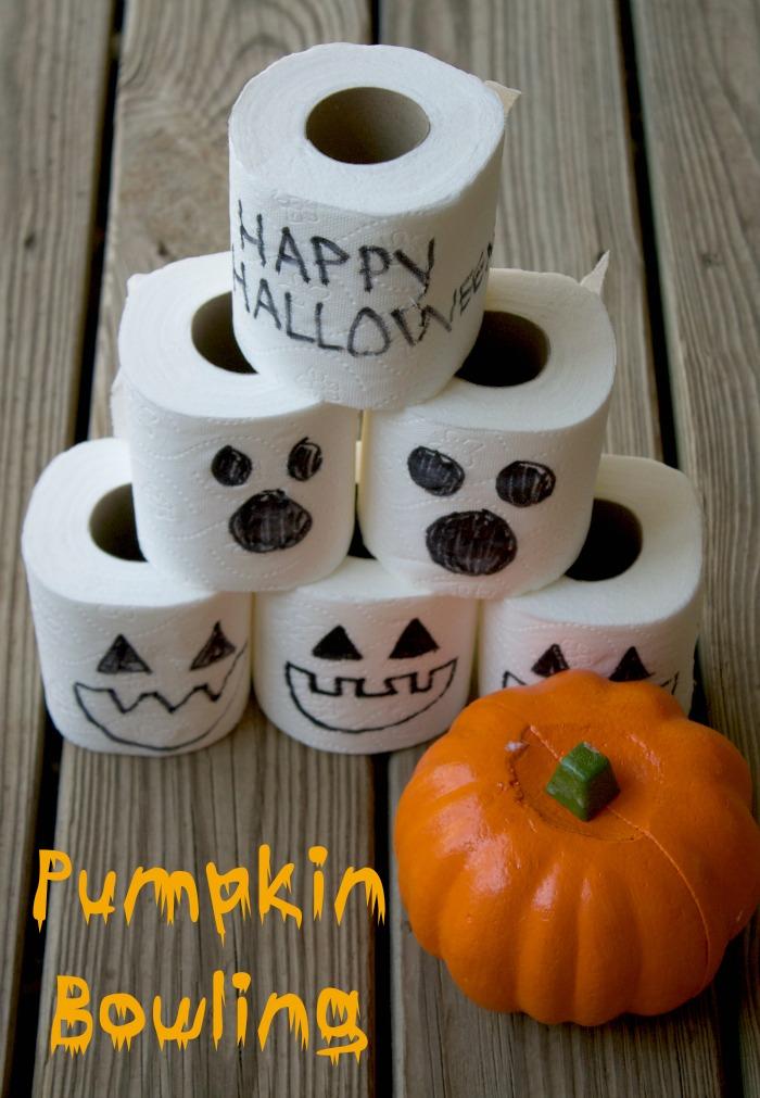 pumpkin bowling halloween game