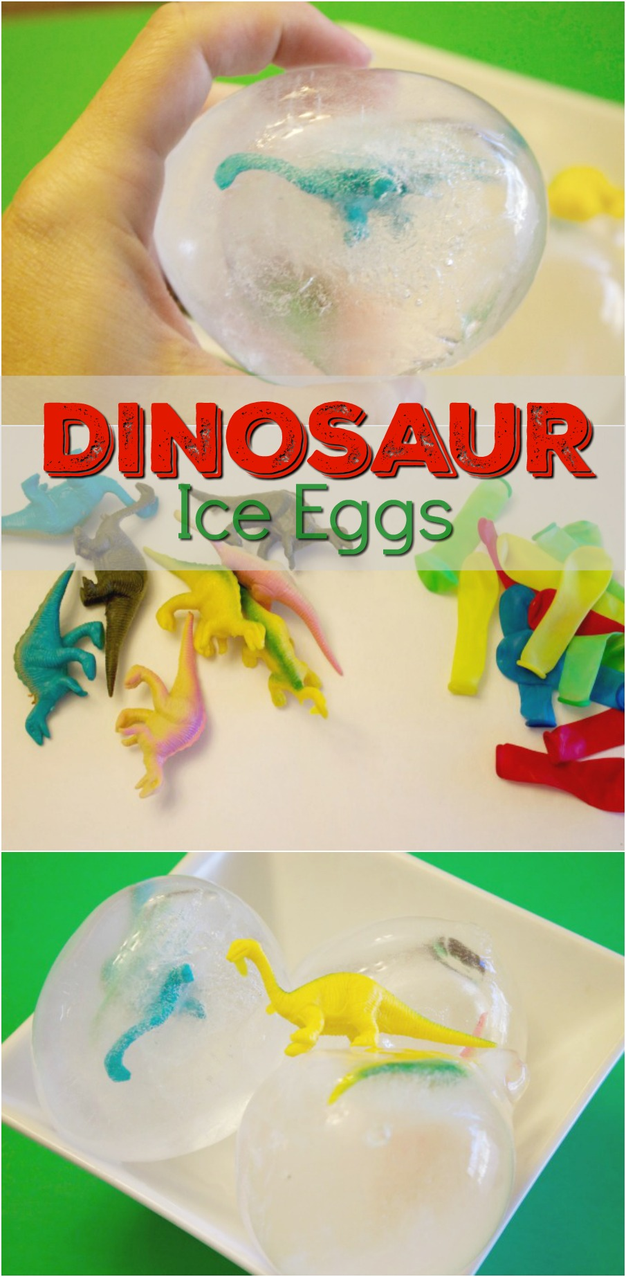 Fun dinosaur activity for kids dinosaur ice eggs dino dig for Dinosaur crafts for toddlers