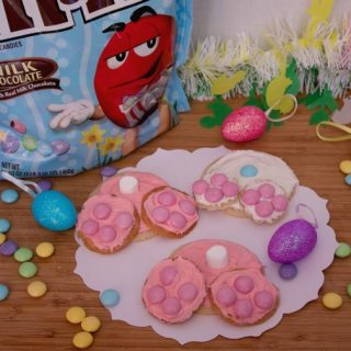 Easter Bunny Bottom Cookies and Easter Candy Wreath