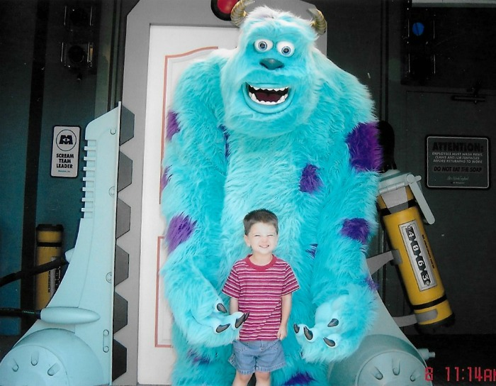 Tips on taking toddlers to disney world: Monsters Inc Meet and Greet
