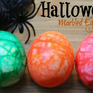 Halloween Marbled Eggs