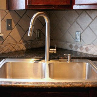 Quick and Easy Kitchen Make Over with American Standard Pull Down Kitchen Faucets