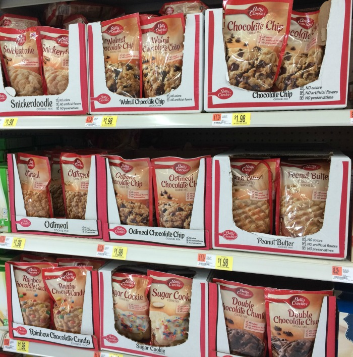 Betty Crocker Cookie Pouches Flavors