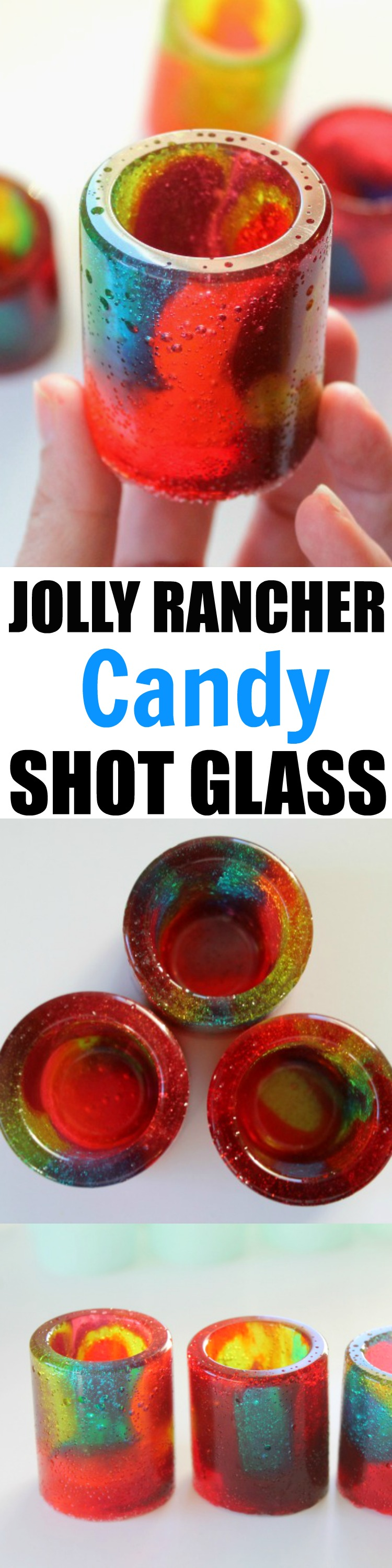 How To Make Your Own Jolly Rancher Shot Glass from home! It's so fun and easy to make these candy shot glasses. They are perfect for parties, holidays or just for fun.