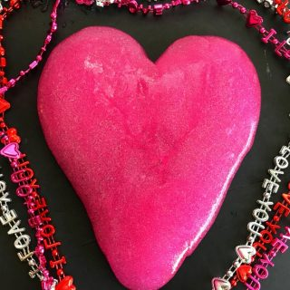 Valentine Slime Recipe With Glitter & Hearts!