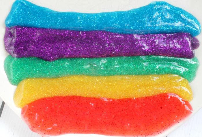 Rainbow Slime Glitter Slime