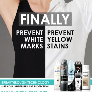 No More Embarrassing White Marks or Yellow Stains