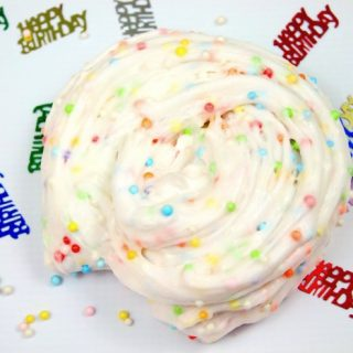 Birthday Cake Confetti Slime