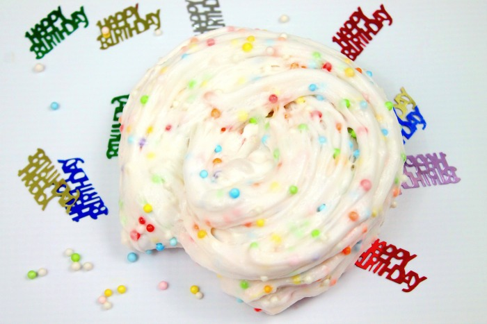 Birthday Cake Slime Recipe
