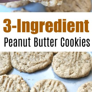 3 Ingredient Peanut Butter Cookies-Boss Baby Approved