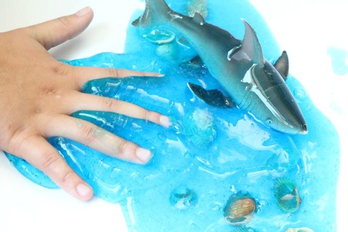 Ocean Slime DIY Clear Slime