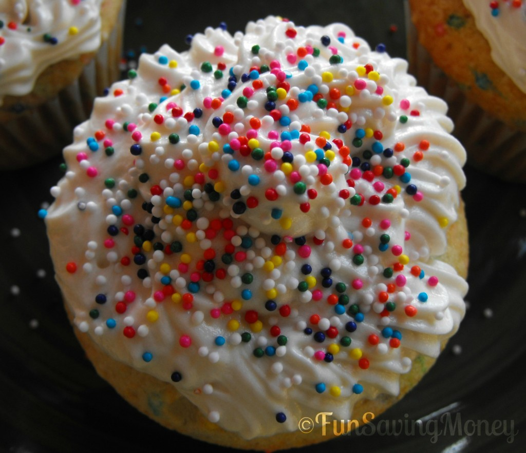 Homemade Funfetti Cupcakes With ButterCream Frosting
