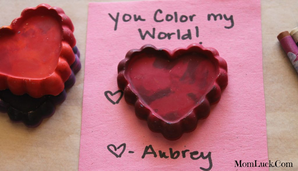 melted crayon heart valentine
