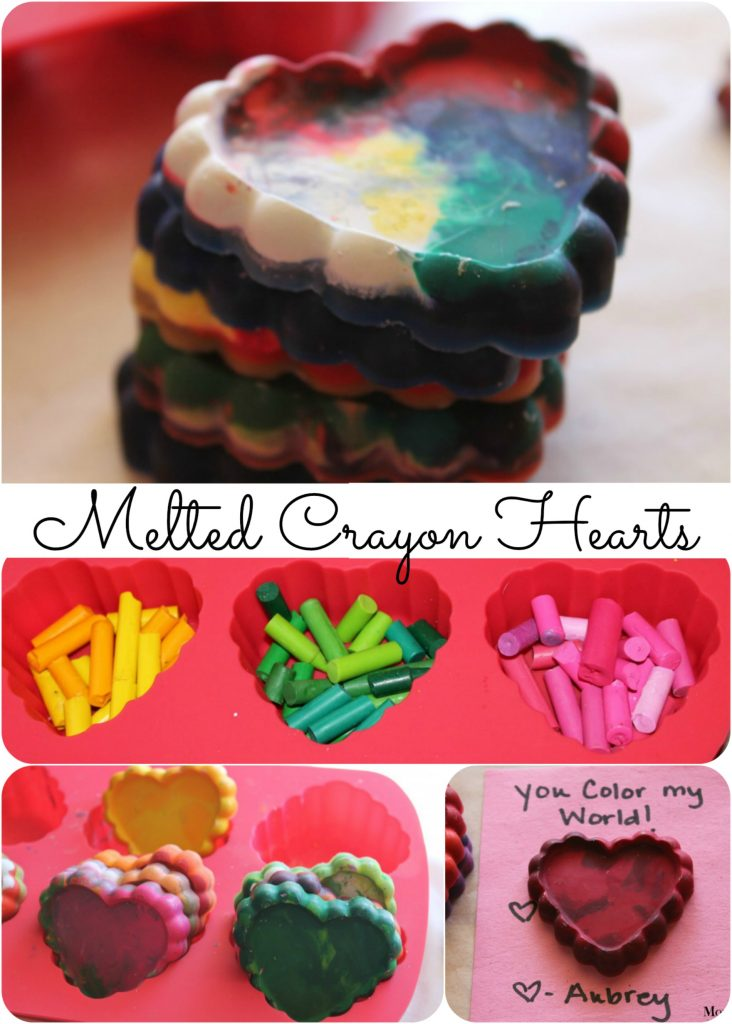 how to make a melted crayon heart