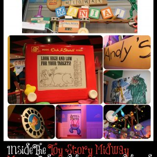 inside the Toy Story mania ride at Disney World