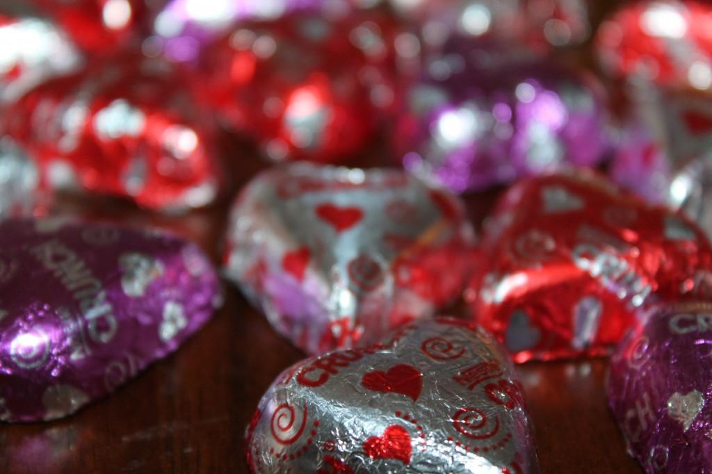 peanut butter blossoms-nestle heart candies