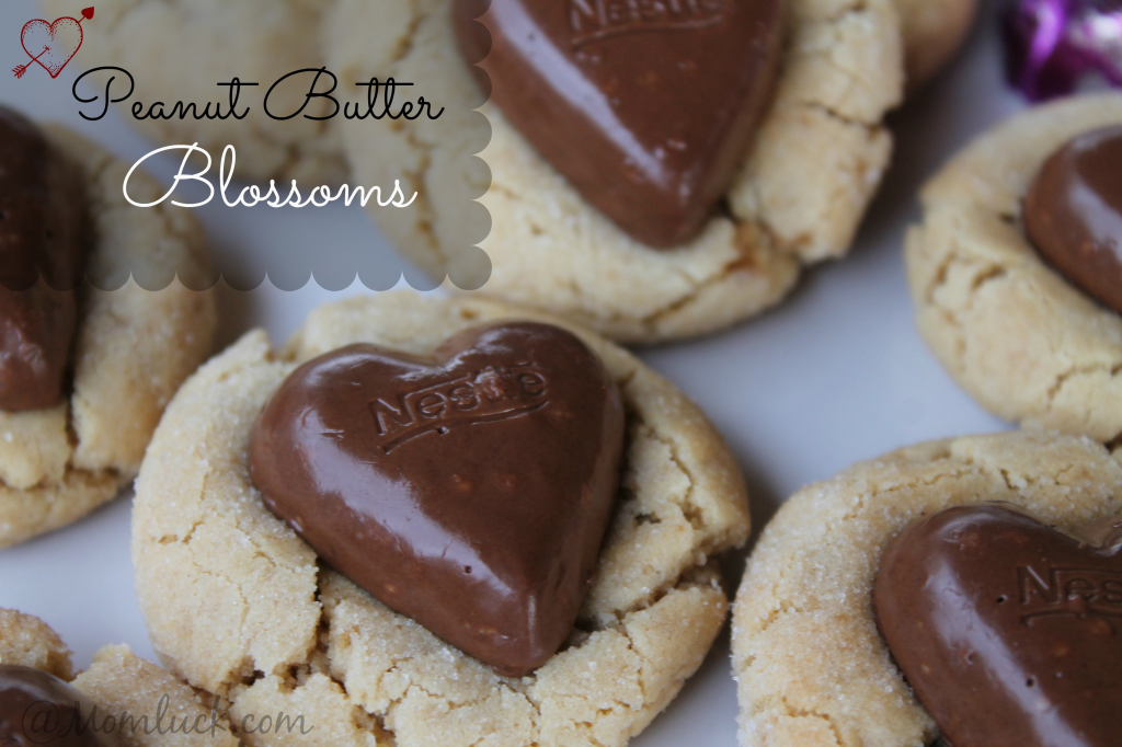 peanut butter blossoms-valentines cookies