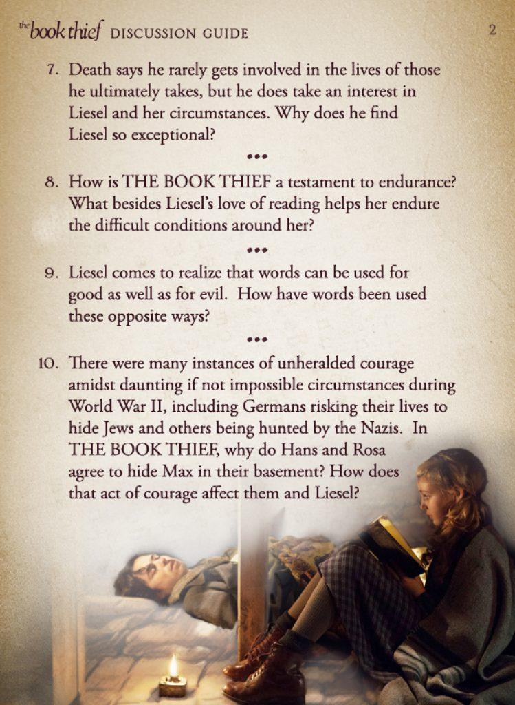 question 1 book thief The book thief study guide questions: parts 1 & 2 prologue: a mountain range of rubble the book thief study guide questions author: jlott last modified by.