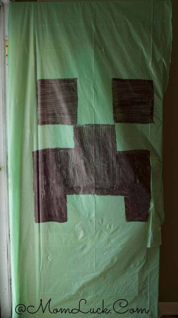 Creeper Door Cover for Minecraft birthday party