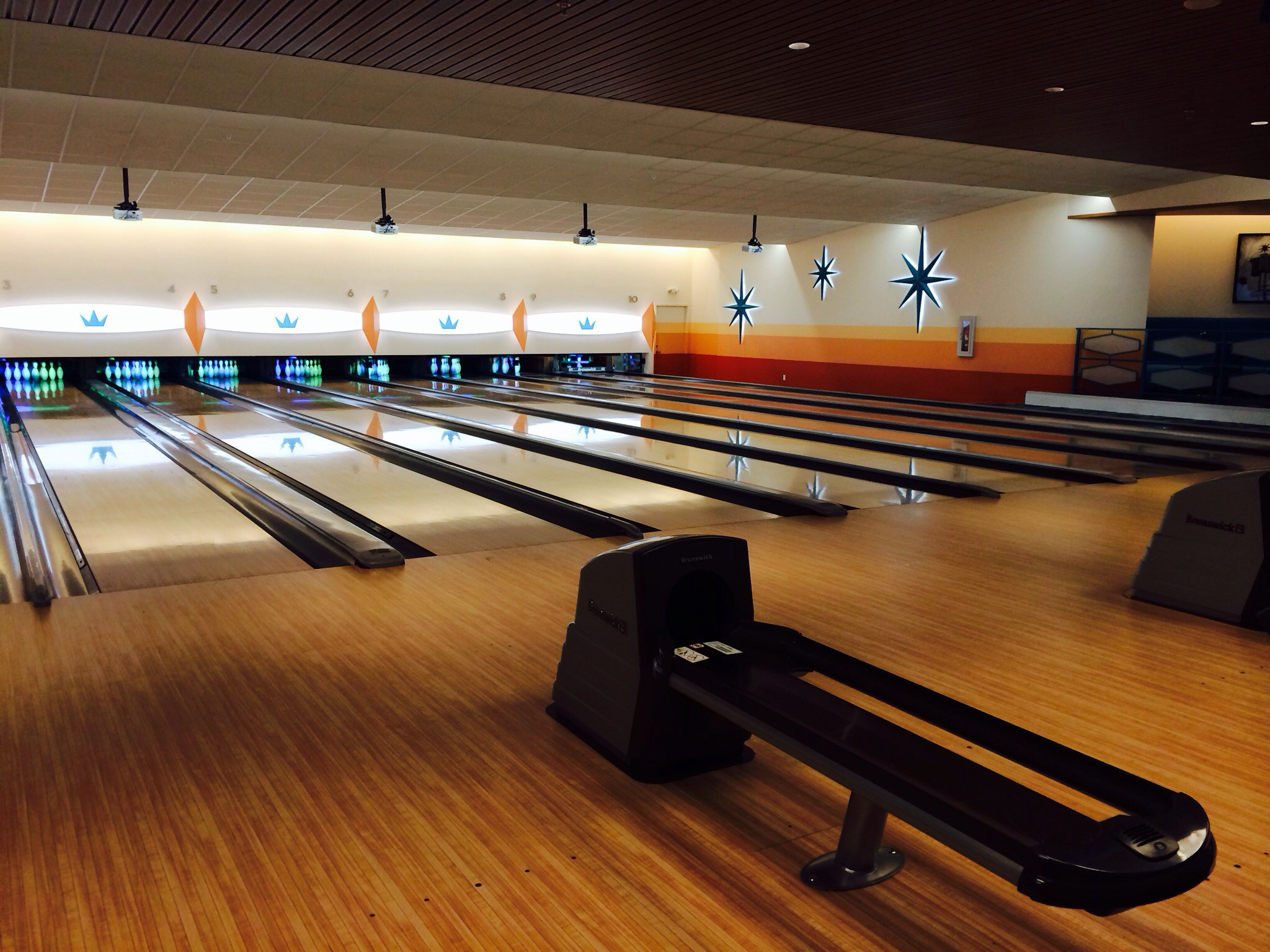 retro bowling alley