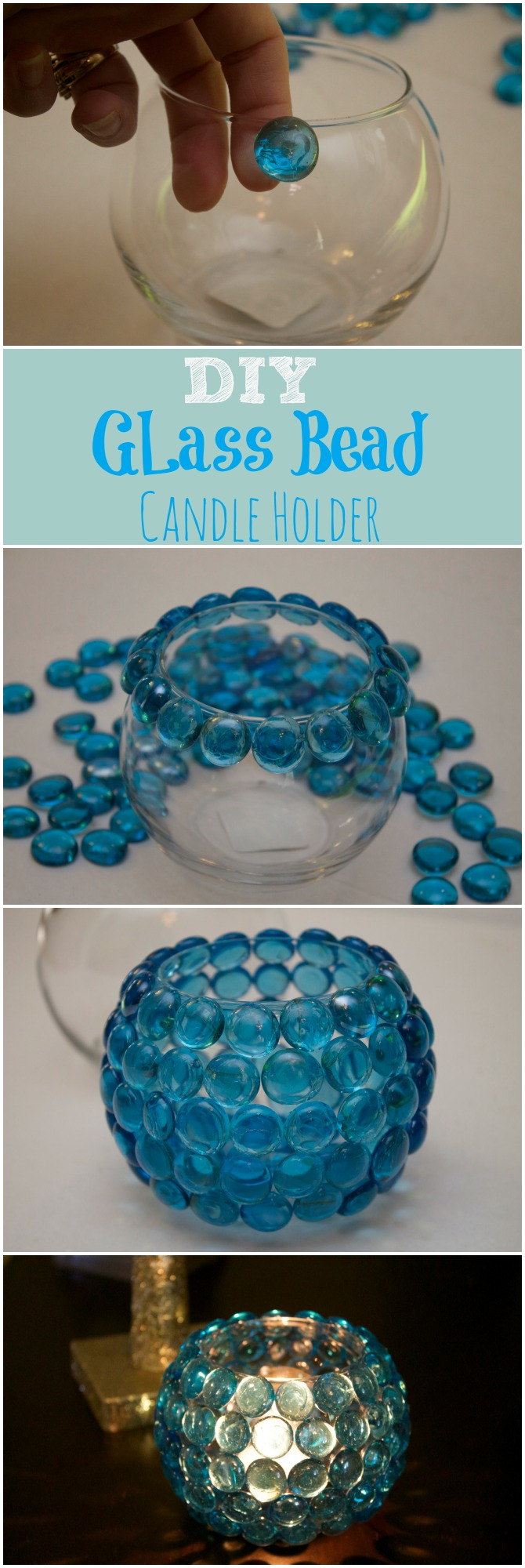 Dollar Store Crafts DIY Candle Holders
